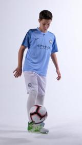 Манчестер Сити домашняя детская футбольная форма комплект 2018/2019/майка и шорты