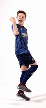 Манчестер Юнайтед 3ий вариант детская футбольная форма комплект 2018/2019/майка и шорты