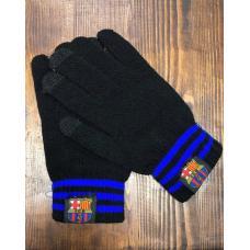 Перчатки вязанные футбольного клуба Барселона