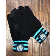 Перчатки вязанные футбольного клуба Манчестер Сити
