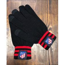 Перчатки вязанные футбольного клуба Атлетико Мадрид