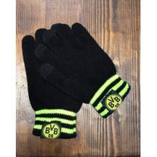 Перчатки вязанные футбольного клуба Боруссия Дортмунд