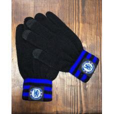 Перчатки вязанные футбольного клуба Челси