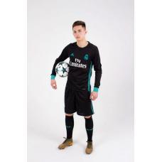 Real Madrid 2017/2018 Away LS Kits/форма гостевая длинный рукав