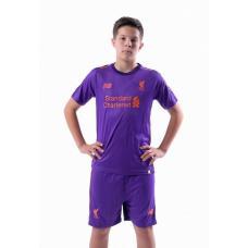 Ливерпуль детская футбольная форма гостевой комплект 2018/2019/майка и шорты