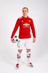 Manchester United 2017/2018 Home Kits/форма домашняя длинный рукав