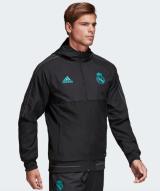 Adidas Real Madrid Prematch 2017/2018 Jacket black/куртка